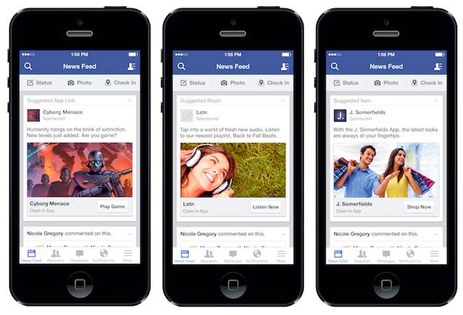 Image Source: http://www.adweek.com/socialtimes/facebook-launches-new-mobile-ad-unit-prompting-users-to-engage-with-apps/296267